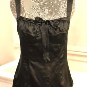 INC Black Silky Tank Top Size Small NWT